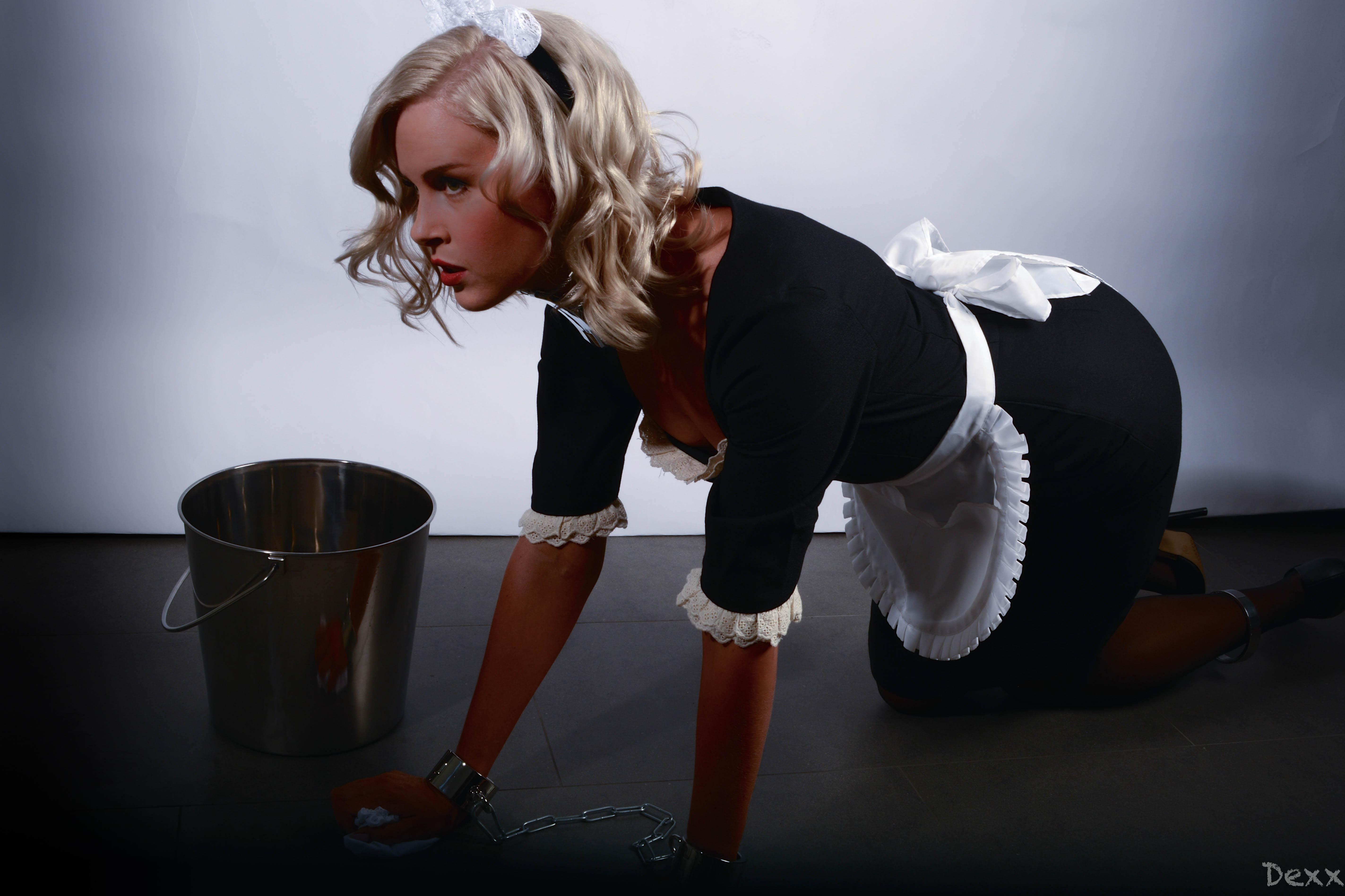 Rubber mistress and slave bondage face sitting 7