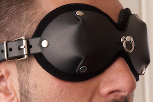 Mistress Heather Leather Blindfold by Stockroom