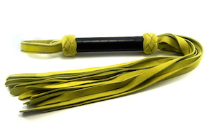 Lime suede classic flogger by 6Whips