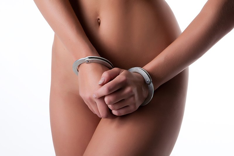 woman handcuffed