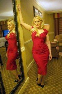 sub ann red dress
