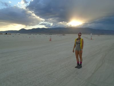 A beautiful sunset on our last day of Burning Man