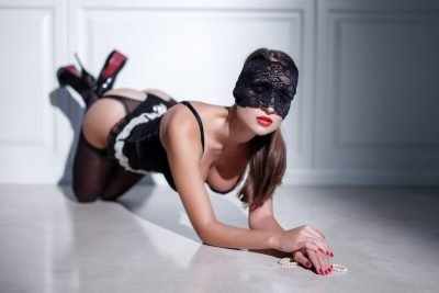Punish slave position - on elbows and knees on the floor