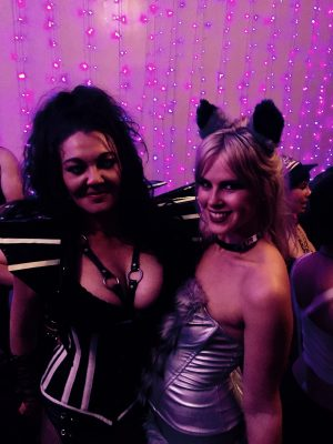 Mistress Dior and anniebear at the Auckland Fetish Ball