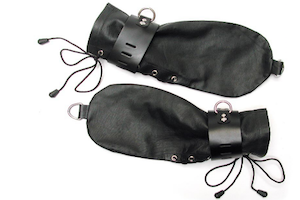 KinkLab Leather Bondage Mitts from Stockroom
