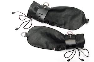 KinkLab Leather Bondage Mitts from Stockroom