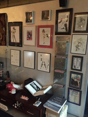 Just a small selection of erotic art displayed in their home.