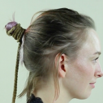 Collapsed Lark's Head Hair Tie