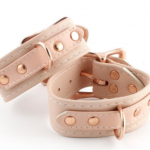 Pale pink and rose gold cuffs from Restrained Grace