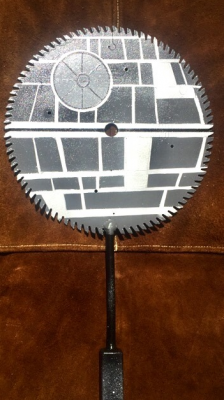 Custom Death Star paddle by Demonic Toys