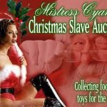 "Mistress Cyan Holds ""Slave Auction"" Toy and Food Drive Press Release"