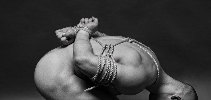 boy slave in shibari