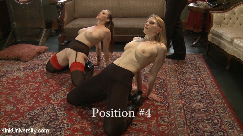 BDSM slave position 4 - kneel back
