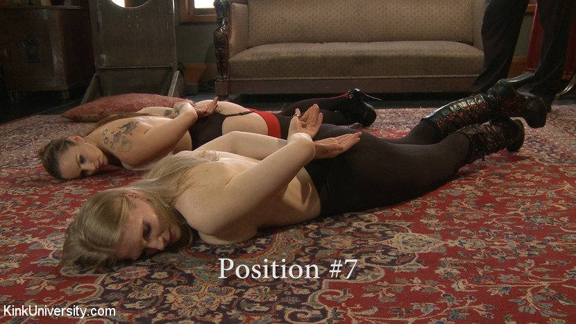 BDSM slave position 7 - floor
