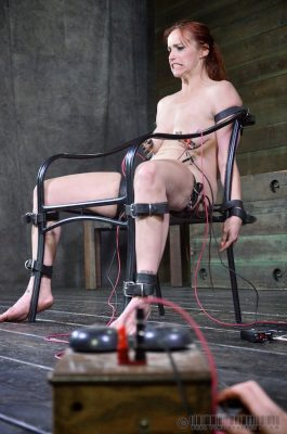 electro interrogation 02 -submissive girl is shocked