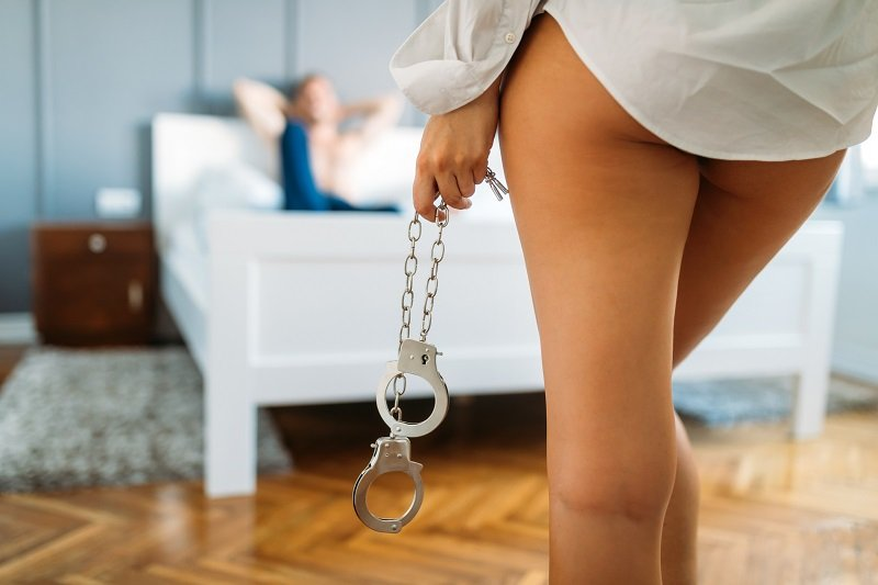 sexy domme with handcuffs