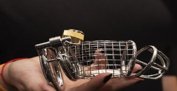 Domme with cock cage